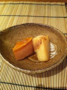 Azabu restaurant japon japonais odeon paris gastronomie teppanyaki citrouille