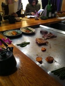 Azabu restaurant japon japonais odeon paris gastronomie teppanyaki cuisson plaque