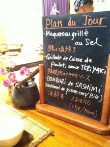Azabu restaurant japon japonais odeon paris gastronomie teppanyaki plat jour