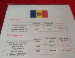 Vins vins moldavie rouge blanc prix cepages alcool imperial glace cabernet