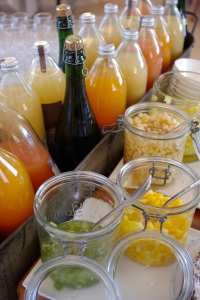 Cazaudehore brunch jus fruits alain milliat saint germain hotel restaurant