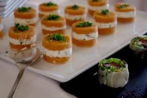 Cazaudehore brunch orange poivron fromage buffet saint germain relais chateau