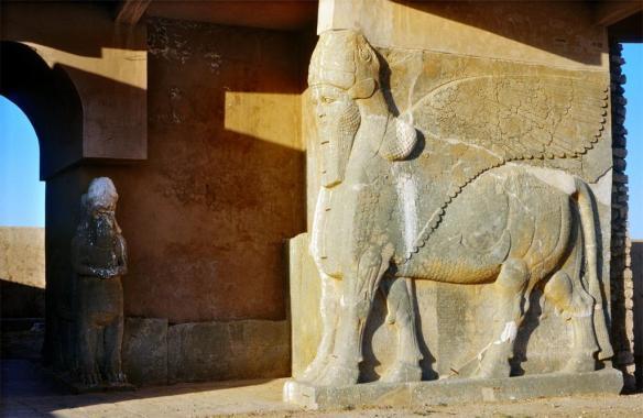 Assurnasirpal palais Nimrud calah iraq mesopotamie assyrie