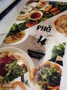 Restaurant pho 14 paris vietnam vietnamien cuisine gastronomie asie tolbiac asie choisy carte