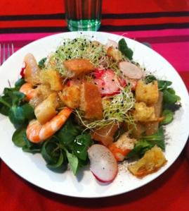Recette printemps salade vitamines minceur radis pamplemousse caloris mache