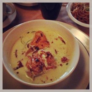 Bali djakarta restaurant indonésie asie asiatique paris halles cuisine gastronomie recettes plats ethniques typiques poulet coco curry vert