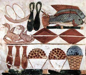 Offrandes Tombeau de Menna Egypte antique nourriture egyptiens poisson histoire alimentation