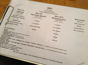 Abri labri restaurant paris japon japonais cuisine gastronomie menu plats entrée surprise chef  metro poissonniere carte