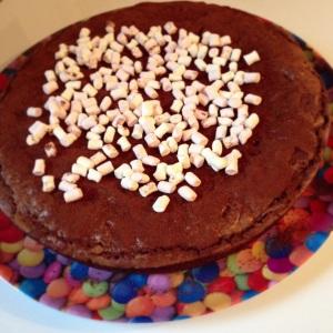 Gateau chocolat cacao brownie pistaches gouter recette facile gourmands morceaux chamallow