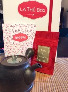 Thé box mai japon sencha matcha vert hojicha patisserie decouverte degustation thés terroirs teapigs ecrivains japonais