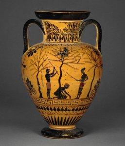 Olives cueillette British museum grece antique 520 vase alimentation huile histoire