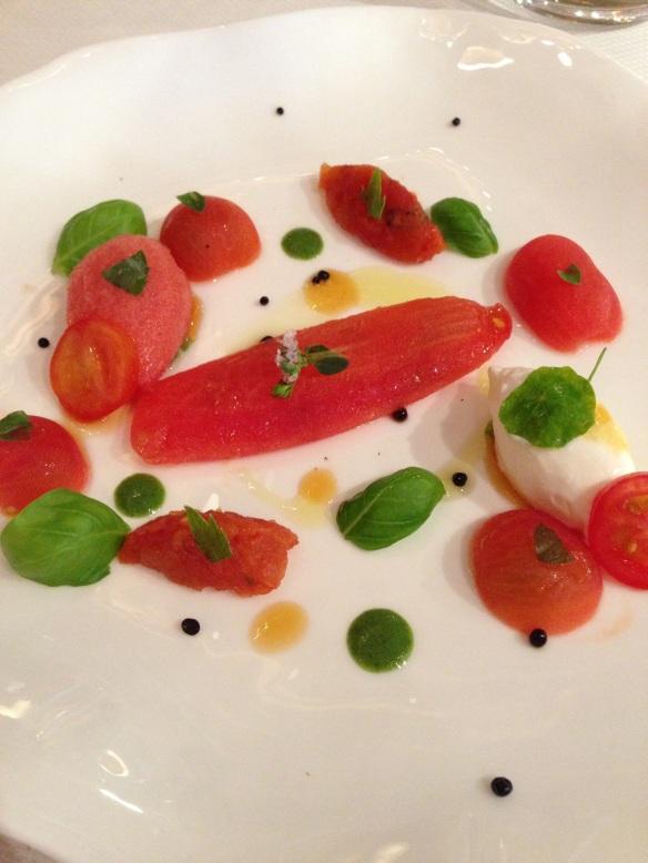 Yoann Conte Annecy jardins marc veyrat nouvelle maison gastronomie étoiles michelin menu repas annecy tomates