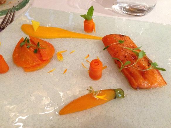 Yoann Conte Annecy jardins marc veyrat nouvelle maison gastronomie étoiles michelin menu repas truite