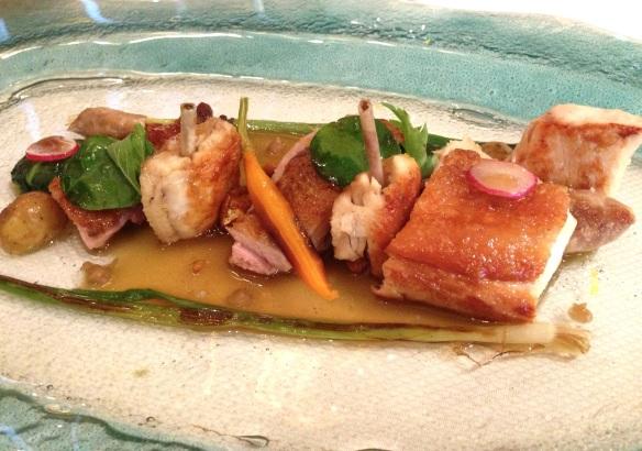 Yoann Conte Annecy jardins marc veyrat nouvelle maison gastronomie étoiles michelin menu repas volaille