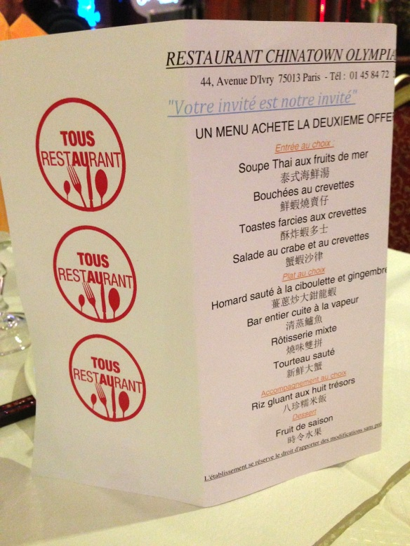 Chinatown olympiades restaurant chinois ivry paris specialités tous au restaurant