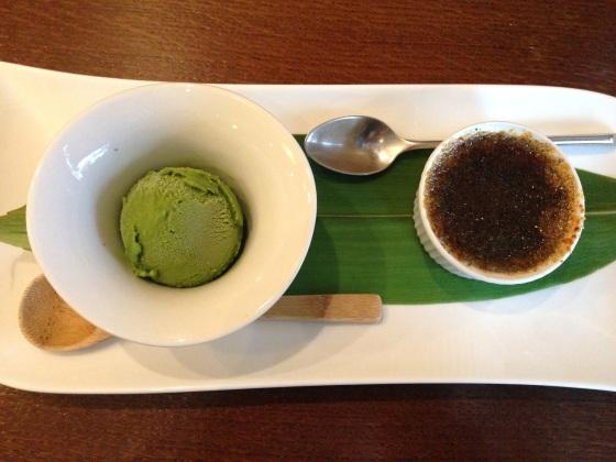 Kiku restaurant japonais menu entrée plat dessert japon paris richer dessert matcha thé sésame noir creme brulée