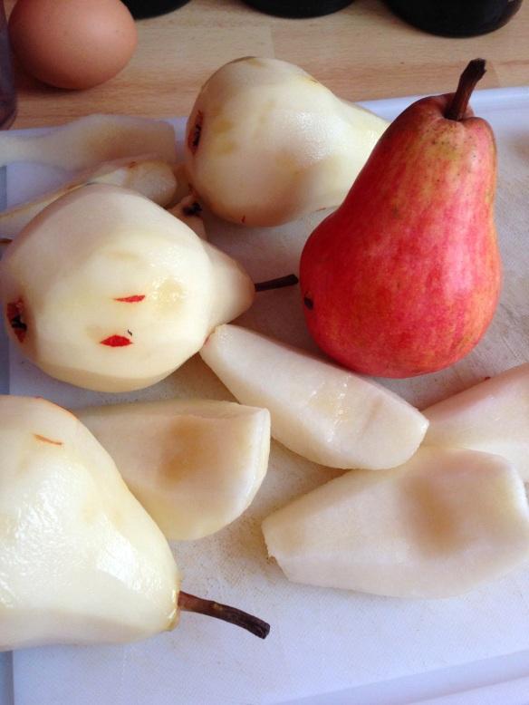 Recette gouter tarte poire amandes amandine pistache gourmande facile rapide saison automne thé dessert