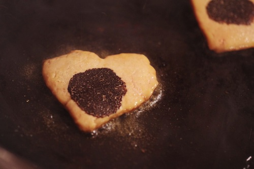 Menu Saint Valentin tournedos rossini foie gras carre de boeuf truffe coeur cuisson origine france celine aime beurre