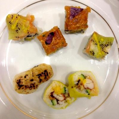Box robuchon pour sushi shop sushis originaux creations yuzu homard ebi roll california etoiles