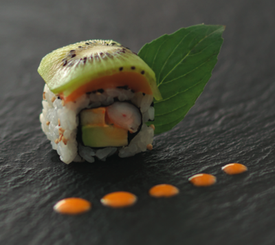Box robuchon pour sushi shop sushis originaux creations yuzu homard ebi roll california hawaian