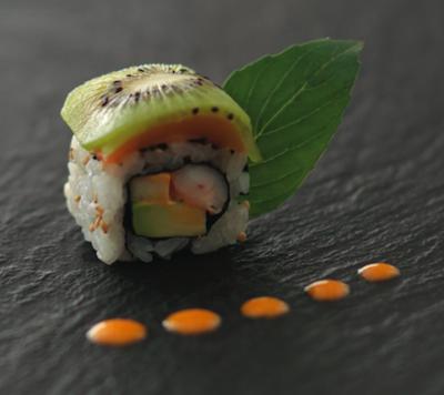 Box robuchon pour sushi shop sushis originaux creations yuzu homard ebi roll california hawaian