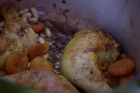 Recette facile poulet abricots secs amandes faon tajine cocotte celinem celine aime riz