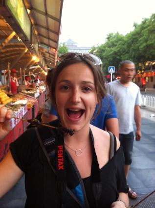 manger des insectes en chine : criquets, grillons, larves